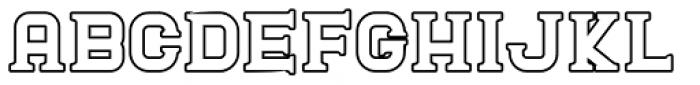 Blame Outline Serif Regular Font LOWERCASE