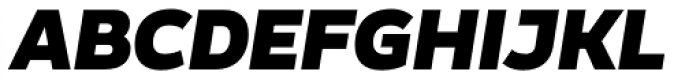 Blanc Black Italic Font UPPERCASE