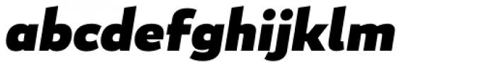 Blanc Black Italic Font LOWERCASE