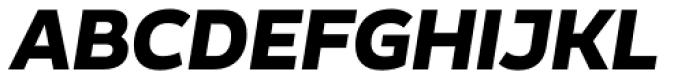 Blanc Bold Italic Font UPPERCASE