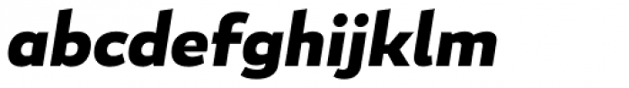Blanc Bold Italic Font LOWERCASE