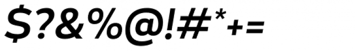Blanc Medium Italic Font OTHER CHARS