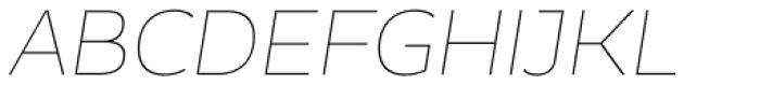 Blanc Thin Italic Font UPPERCASE