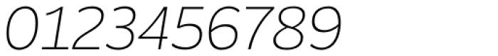Blanc Ultralight Italic Font OTHER CHARS