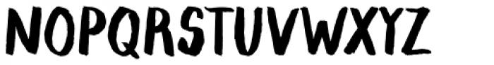 Blaue Brush Font UPPERCASE