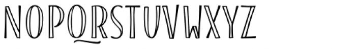 Blend Caps Inline Bold Font UPPERCASE