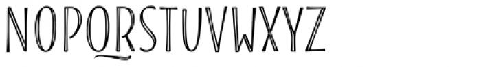 Blend Caps Inline Font LOWERCASE