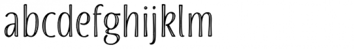 Blend Inline Font LOWERCASE