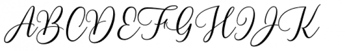 Blend Script Font UPPERCASE