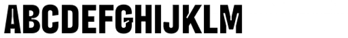 Blimone Extra Bold Inktrap Font UPPERCASE