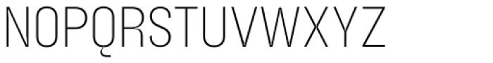 Blimone Extra Light Inktrap Font UPPERCASE