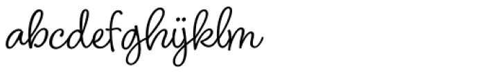 Blithe Font LOWERCASE