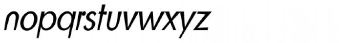 Blitz Condensed Light Italic Font LOWERCASE