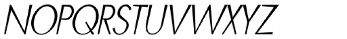 Blitz Condensed Thin Italic Font UPPERCASE
