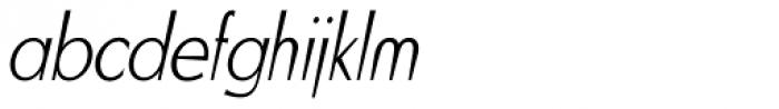 Blitz Condensed Thin Italic Font LOWERCASE