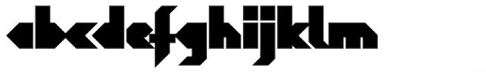 Blitzeffekt Bold Font LOWERCASE