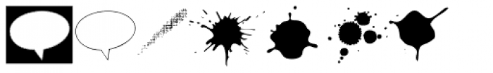 Blobs, Brush Strokes & Balloons Font UPPERCASE