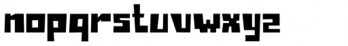 Block Box Font LOWERCASE