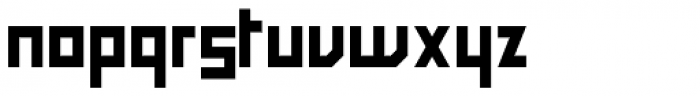 Block Medium Font LOWERCASE