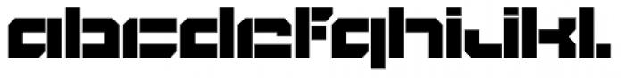 BlockOut Open Ultra Font LOWERCASE