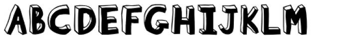 Blockhead Black Face Font UPPERCASE