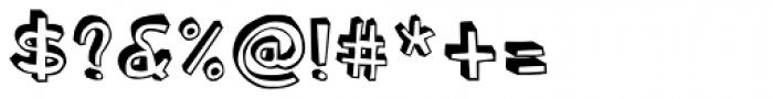 Blockhead Dark Side Font OTHER CHARS