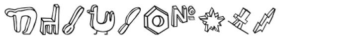 Blockhead Illustrations Plain Font OTHER CHARS