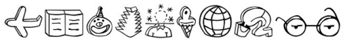Blockhead Illustrations Plain Font UPPERCASE