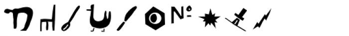 Blockhead Illustrations Unplugged Font OTHER CHARS