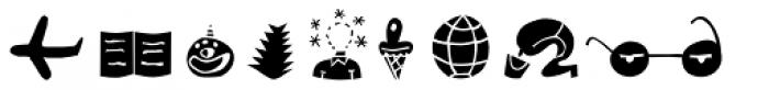 Blockhead Illustrations Unplugged Font UPPERCASE