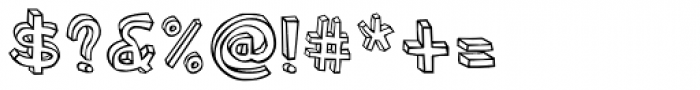 Blockhead Plain Font OTHER CHARS