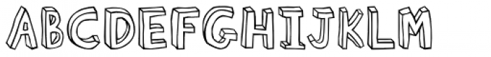 Blockhead Plain Font UPPERCASE