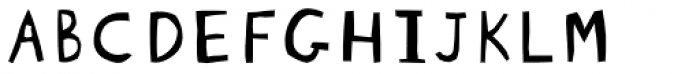 Blockhead Unplugged Font UPPERCASE