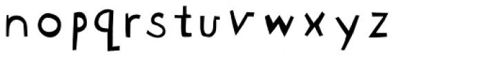 Blockhead Unplugged Font LOWERCASE