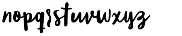 Blog Script Font LOWERCASE