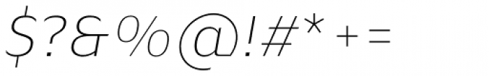 Blond Ultra Light Italic Font OTHER CHARS