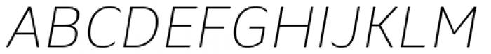 Blond Ultra Light Italic Font UPPERCASE