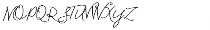 Blooming Elegant Monoline Bold Font UPPERCASE