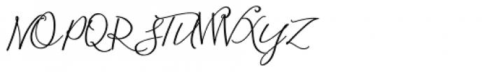 Blooming Elegant Regular Font UPPERCASE