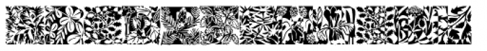 Blooming Meadow Night Font LOWERCASE