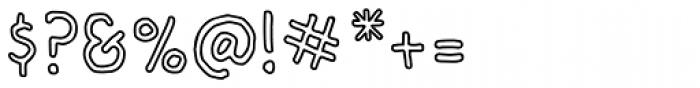 Bloop Outline Font OTHER CHARS