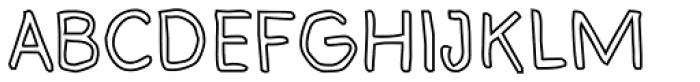 Bloop Outline Font UPPERCASE