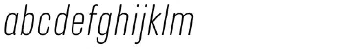 Blop11 Light Italic Font LOWERCASE
