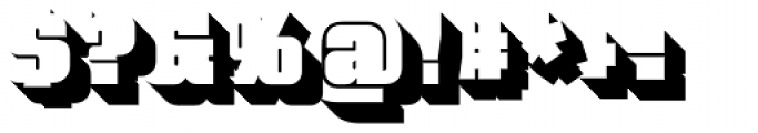 Bloque 3D Font OTHER CHARS