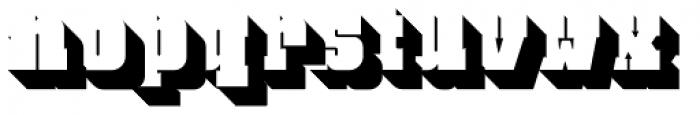 Bloque 3D Font LOWERCASE