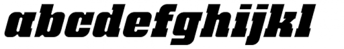 Bloque Layer 1 Italic Font LOWERCASE