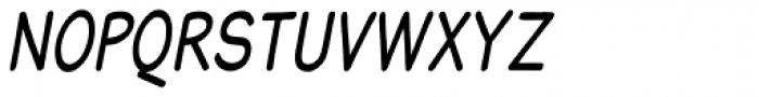 Blound Bold Condensed Oblique Font UPPERCASE