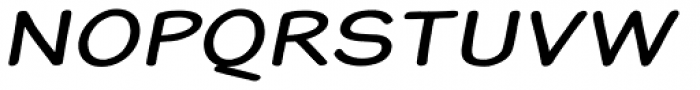 Blound Bold Expanded Oblique Font UPPERCASE