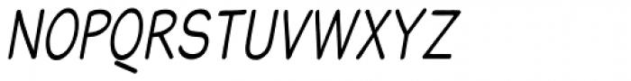 Blound Condensed Oblique Font UPPERCASE