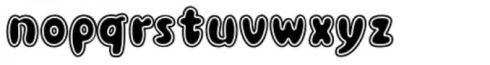 Blowfish Inline Font LOWERCASE